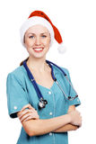 Christmas doctor Stock Images