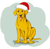 Christmas dog royalty free illustration