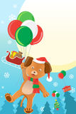 Christmas dog design background Royalty Free Stock Image