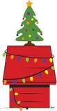 Christmas Dog House Stock Image