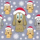 Christmas Dog Seamless Pattern. Vector Illustration Stock Photo