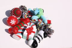 Christmas dog toys Royalty Free Stock Image