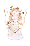 Christmas doll an angel on white Royalty Free Stock Photos
