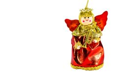 Christmas doll angel on white background Stock Image