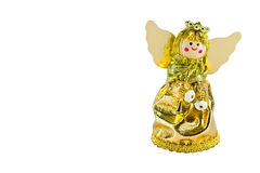 Christmas doll angel on white background Royalty Free Stock Photos