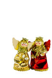 Christmas doll angel on white background Royalty Free Stock Photography