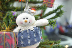 Christmas doll. On the Christmas tree Royalty Free Stock Images