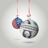 Christmas dollar ball Stock Photography