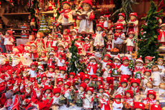 Christmas dolls at a Christmas market Royalty Free Stock Photography