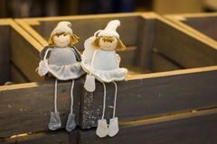 Christmas dolls Stock Images