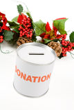 Christmas donation Royalty Free Stock Photo