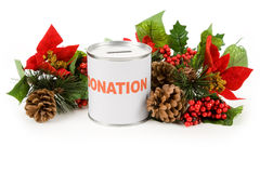 Christmas donation Royalty Free Stock Image