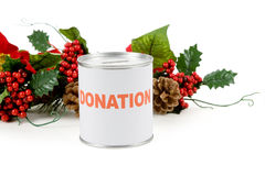 Christmas donation Stock Photography