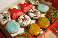 Christmas donuts Royalty Free Stock Photo