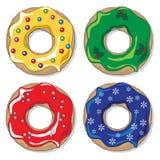 Christmas donuts Stock Image