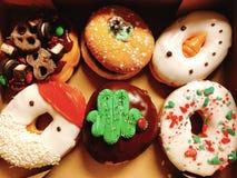 Christmas donuts royalty free stock image