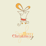 Christmas Doodle. Simple Christmas gift doodle, vector Royalty Free Stock Photo