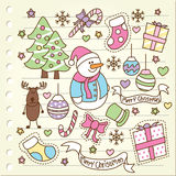 Christmas doodle Royalty Free Stock Photos