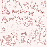 Christmas doodle Stock Photos