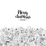 Christmas doodle background Royalty Free Stock Photos