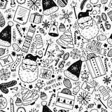 Christmas doodle background Royalty Free Stock Photography