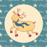Christmas doodle  deer Royalty Free Stock Images