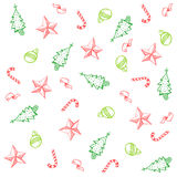 Christmas Doodle Stock Images