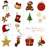 Christmas doodle greeting card Stock Image