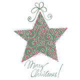 Christmas doodle greeting card Stock Photography