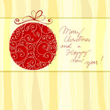 Christmas doodle greeting card Royalty Free Stock Photography