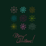 Christmas doodle greeting card Royalty Free Stock Photos
