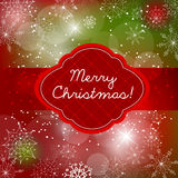 Christmas doodle greeting card design Royalty Free Stock Images