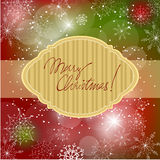 Christmas doodle greeting card design Stock Images