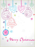 Christmas doodle greeting card, eps10 Stock Photos