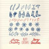 Christmas  doodle  hand drawn design elements Stock Photos