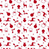 Christmas doodle ornament decoration background Royalty Free Stock Image