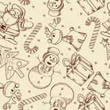 Christmas doodle pattern Stock Photo