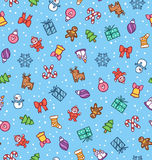 Christmas doodle pattern Royalty Free Stock Photo