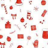 Christmas doodle seamless pattern Royalty Free Stock Photos