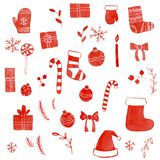 Christmas doodle set Stock Images