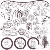 Christmas doodle sketch Royalty Free Stock Photo