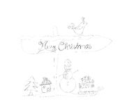 Christmas doodle sketches Royalty Free Stock Photos