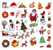 Christmas doodle symbols Stock Image