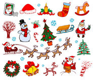 Christmas doodle symbols Royalty Free Stock Photography