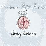 Christmas doodle vector card. New Year postcard Stock Images