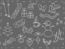 Christmas doodles stock illustration