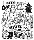 Christmas doodles Royalty Free Stock Photography