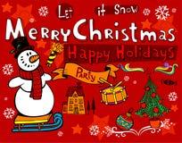 Christmas doodles Stock Image