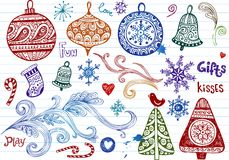 Christmas doodles Royalty Free Stock Photos