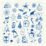 Christmas doodles set Royalty Free Stock Images